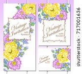 vintage delicate invitation...   Shutterstock .eps vector #717001636