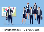businessman with megaphone... | Shutterstock .eps vector #717009106