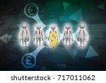 3d people around dollar sign | Shutterstock . vector #717011062