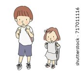 vector illustration of little... | Shutterstock .eps vector #717011116