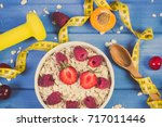 vintage photo  fresh prepared... | Shutterstock . vector #717011446