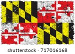 the flag of maryland | Shutterstock . vector #717016168