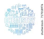 set of chemistry icons | Shutterstock .eps vector #717018976