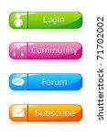 illustration of set of icon for ...   Shutterstock .eps vector #71702002