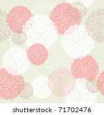 Stock vector seamless cute spring or summer flowers pattern floral background 71702476