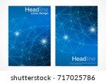 scientific brochure design...   Shutterstock .eps vector #717025786