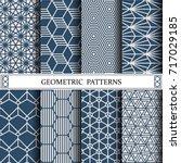 hexagon geometric vector... | Shutterstock .eps vector #717029185