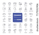 line icons set. finance pack.... | Shutterstock .eps vector #717031906