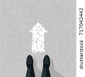 go ahead concept. businessman... | Shutterstock .eps vector #717042442