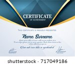 nice and beautiful certificate... | Shutterstock .eps vector #717049186