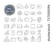 big data. outline icon set....   Shutterstock .eps vector #717050596