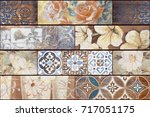 abstract home decorative art... | Shutterstock . vector #717051175