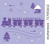 new year and christmas symbols  ... | Shutterstock .eps vector #717052612