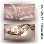 elegant invitation banners with ...