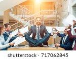 business negotiation  male... | Shutterstock . vector #717062845