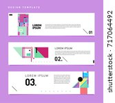 vector set of abstract banner... | Shutterstock .eps vector #717064492