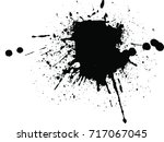 abstract black ink splash... | Shutterstock .eps vector #717067045