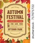 autumn festival poster. autumn... | Shutterstock .eps vector #717071722