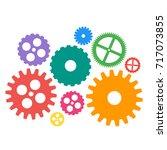 gear icons set. machine gear... | Shutterstock .eps vector #717073855