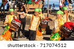 Small photo of Dumaguete, Philippines - 16 September, 2017: street dance at Sandurot Festival. Carnival with dancing and drum music. Children in national costume. Philippines festival tradition. Autumn festival