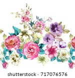 Stock photo graceful flowers the leaves and flowers art design 717076576