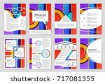 abstract vector layout... | Shutterstock .eps vector #717081355