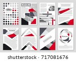 abstract vector layout... | Shutterstock .eps vector #717081676