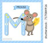 letter m uppercase cute... | Shutterstock .eps vector #717084916