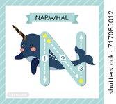 letter n uppercase cute... | Shutterstock .eps vector #717085012