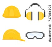 personal protective equipment... | Shutterstock .eps vector #717086908