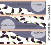 whole ripe vegetable purple... | Shutterstock .eps vector #717088315