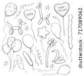 vector collection of sketches... | Shutterstock .eps vector #717089062