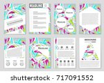 abstract vector layout... | Shutterstock .eps vector #717091552