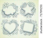 set of festive banner doodle... | Shutterstock .eps vector #71709253