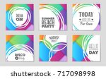abstract vector layout...   Shutterstock .eps vector #717098998