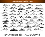 different mountain ranges... | Shutterstock .eps vector #717100945