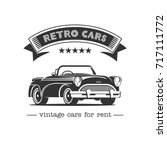 vintage car. sale  rental of... | Shutterstock .eps vector #717111772