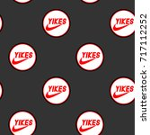 seamless pattern with patches ... | Shutterstock .eps vector #717112252