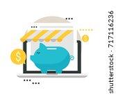 online store  online shopping ... | Shutterstock .eps vector #717116236