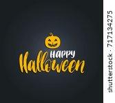 pumpkin vector illustration...   Shutterstock .eps vector #717134275