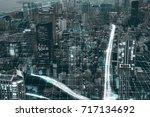 city network   Shutterstock . vector #717134692