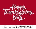 thanksgiving day   vector hand... | Shutterstock .eps vector #717136546