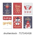 christmas gift cards or tags... | Shutterstock .eps vector #717141418