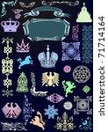 illustration with heraldic... | Shutterstock .eps vector #71714164