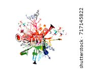 live music concert colorful... | Shutterstock .eps vector #717145822