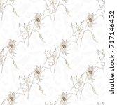vector floral seamless pattern... | Shutterstock .eps vector #717146452