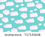 sky with clouds. vector... | Shutterstock .eps vector #717155638