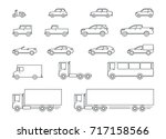 car icons  cars of lines  flat... | Shutterstock .eps vector #717158566