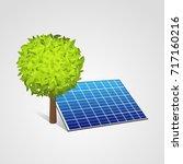 solar panel of sun energy... | Shutterstock .eps vector #717160216