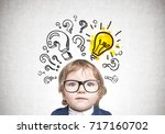 close up portrait of a cute... | Shutterstock . vector #717160702